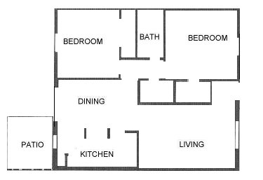 986 sq. ft. floor plan