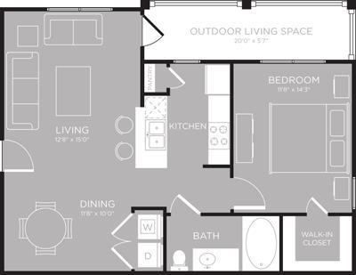 726 sq. ft. Chelan floor plan