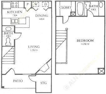 790 sq. ft. C floor plan