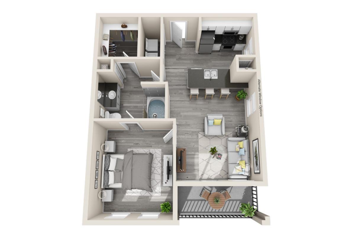 651 sq. ft. Rio floor plan