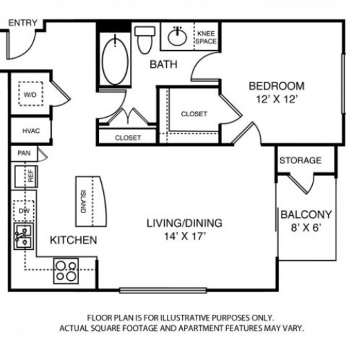 821 sq. ft. to 887 sq. ft. A5 floor plan