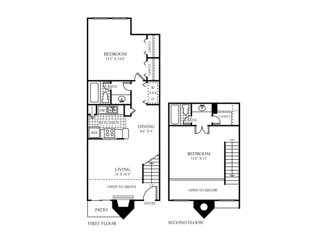 1,015 sq. ft. G floor plan
