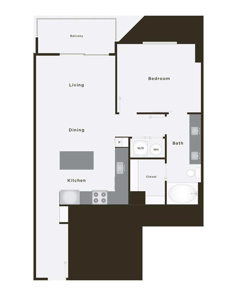 768 sq. ft. Premier floor plan