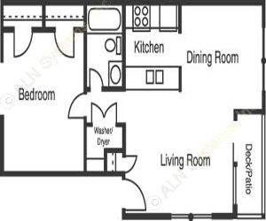 630 sq. ft. A2/WESTLAKE floor plan