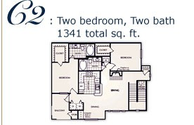 1,237 sq. ft. D floor plan