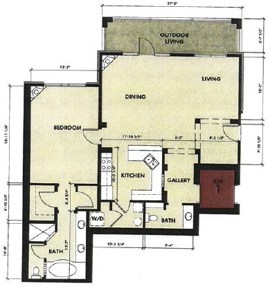 1,305 sq. ft. Guadalupe floor plan