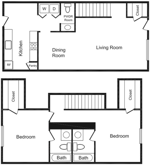 1,220 sq. ft. floor plan