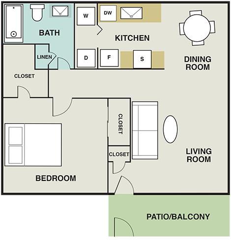 703 sq. ft. floor plan