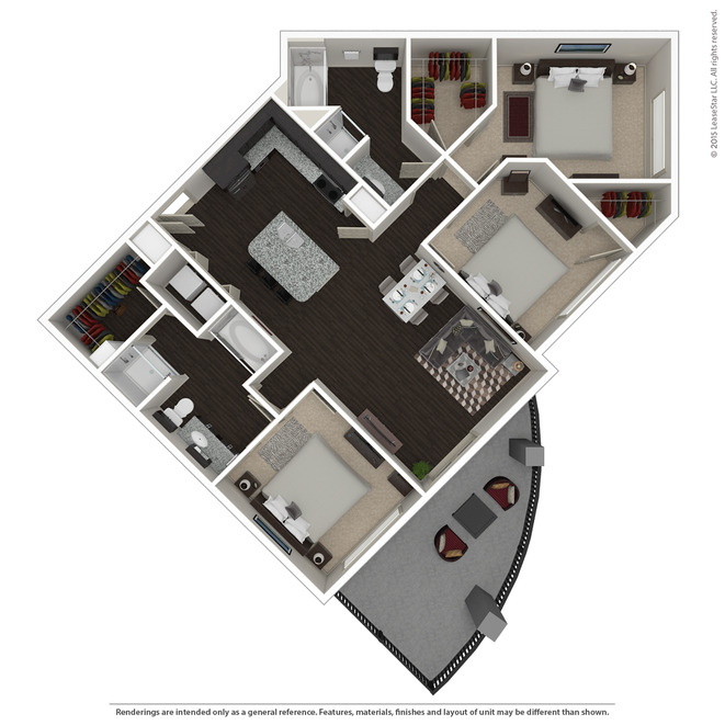 1,313 sq. ft. C1 ANSI floor plan