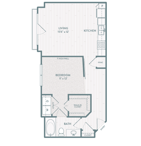 707 sq. ft. A4 floor plan