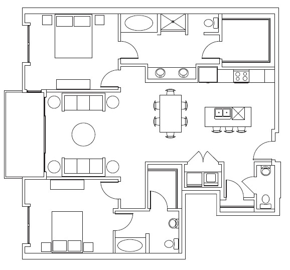 1,467 sq. ft. Kimball floor plan