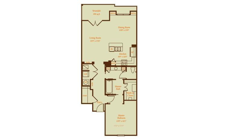 1,398 sq. ft. Navia floor plan