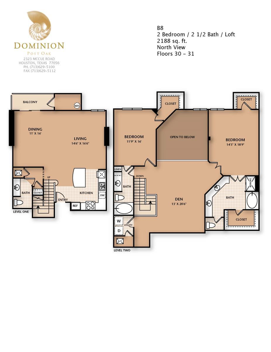 2,188 sq. ft. B8/PENTHSE floor plan