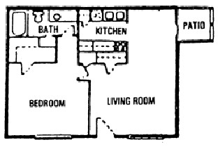 650 sq. ft. A floor plan