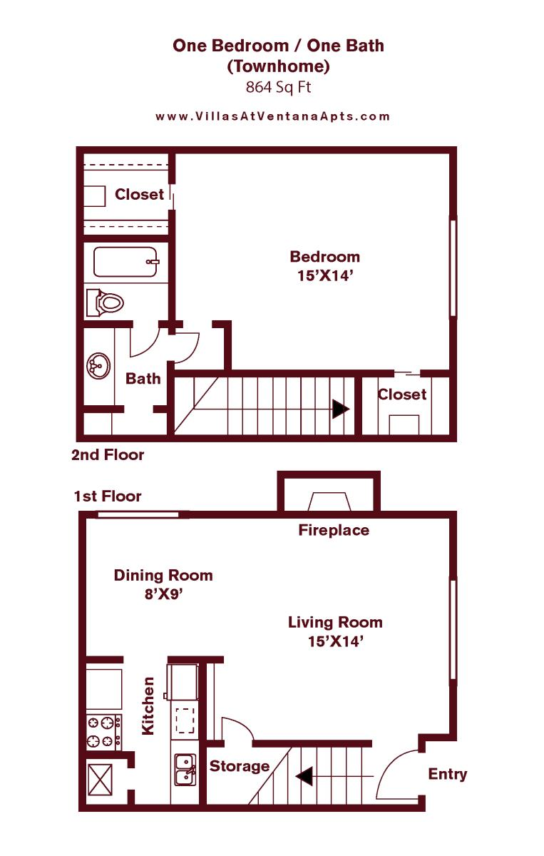 640 sq. ft. to 675 sq. ft. floor plan