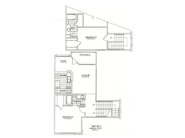 1,062 sq. ft. C1 floor plan