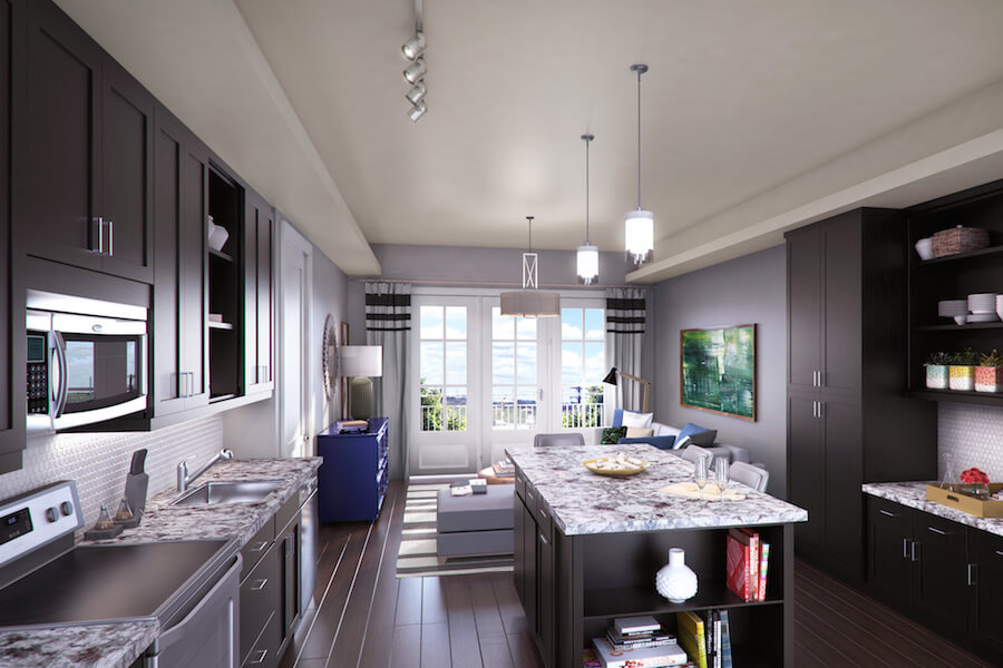 Living/Kitchen at Listing #259597
