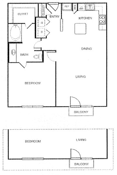 902 sq. ft. Panache w/ Garage floor plan