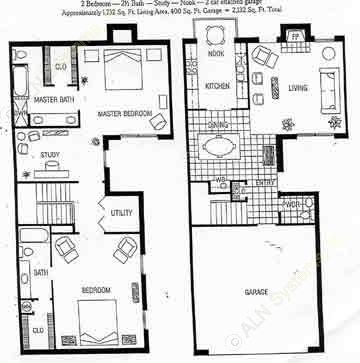 1,732 sq. ft. E floor plan
