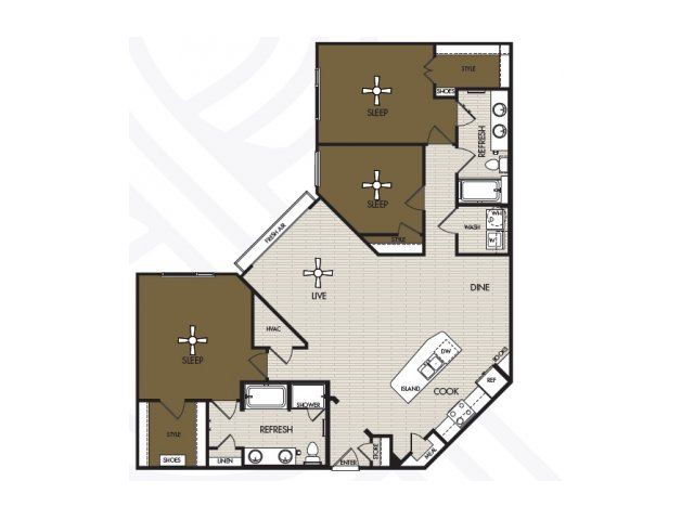 1,617 sq. ft. C1 floor plan