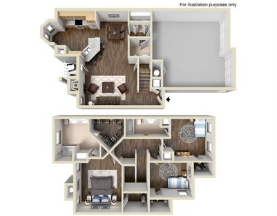1,641 sq. ft. C2 floor plan