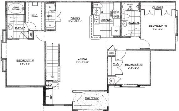 1,177 sq. ft. GIJON/60% floor plan