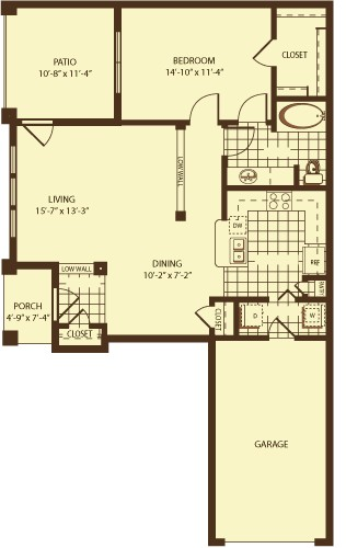 876 sq. ft. Nelson floor plan