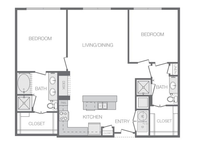 1,247 sq. ft. M floor plan