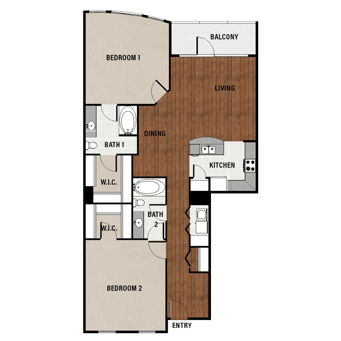 1,424 sq. ft. C8 floor plan
