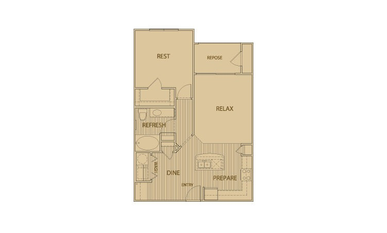 775 sq. ft. A3.1 floor plan