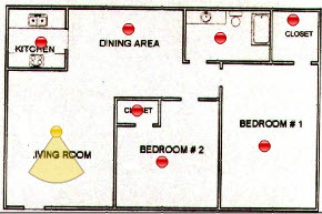 820 sq. ft. floor plan