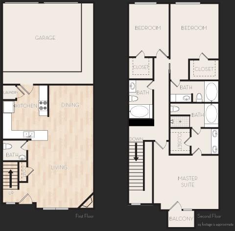1,751 sq. ft. K1T floor plan