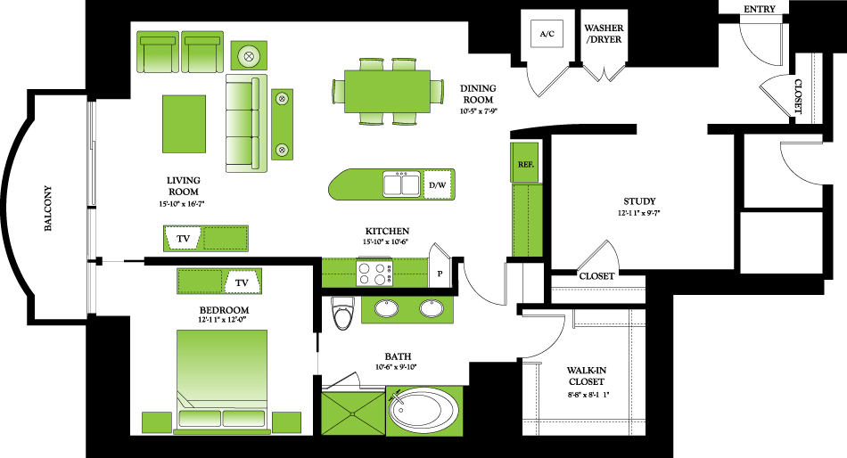 1,337 sq. ft. to 1,372 sq. ft. Boxwood floor plan