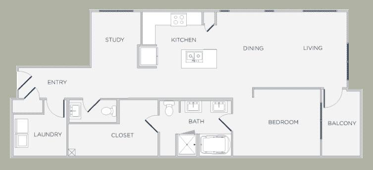 1,146 sq. ft. floor plan