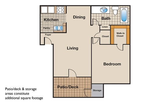 583 sq. ft. floor plan