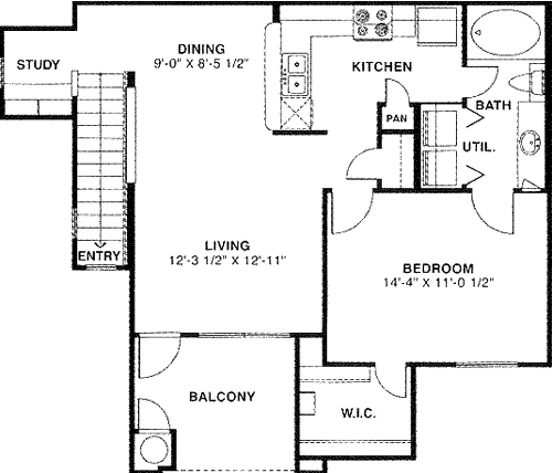 820 sq. ft. 50 floor plan