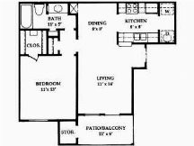 639 sq. ft. to 712 sq. ft. floor plan