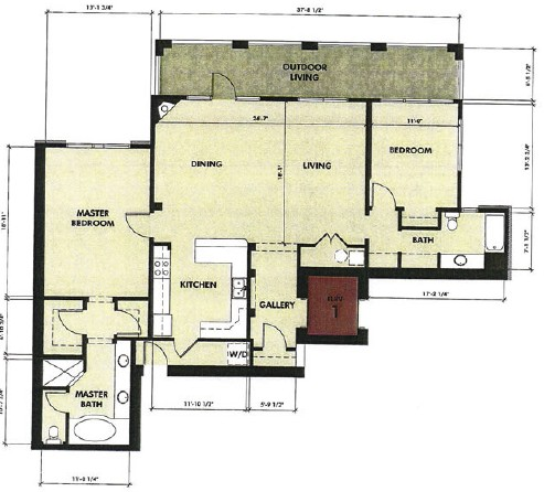 1,601 sq. ft. Concho floor plan