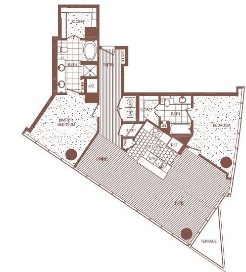 1,370 sq. ft. B1 floor plan