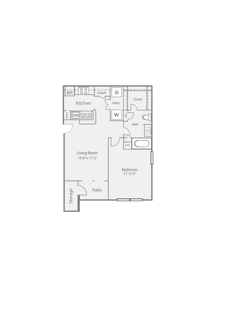 632 sq. ft. A1/PINE floor plan
