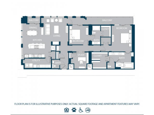 2,103 sq. ft. PH4 floor plan