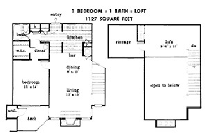 1,127 sq. ft. floor plan