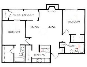 909 sq. ft. Texan floor plan