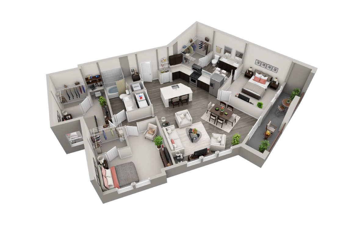 1,439 sq. ft. C4 floor plan