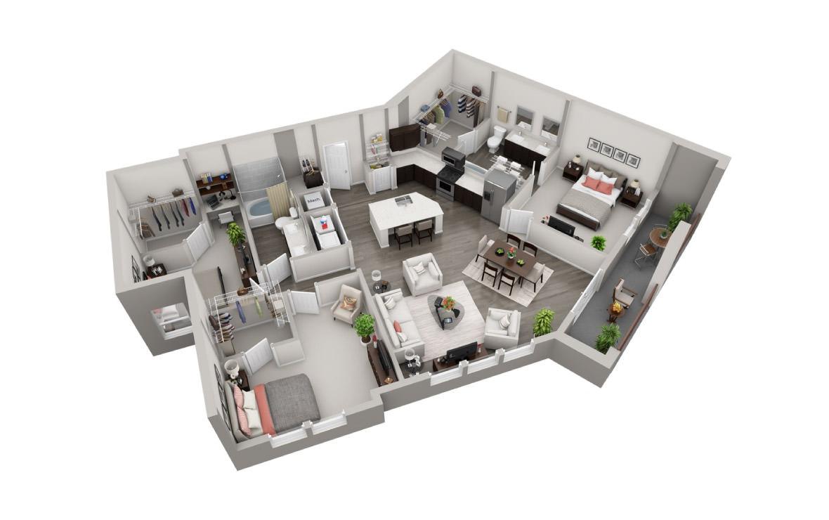 1,439 sq. ft. C4 floor plan