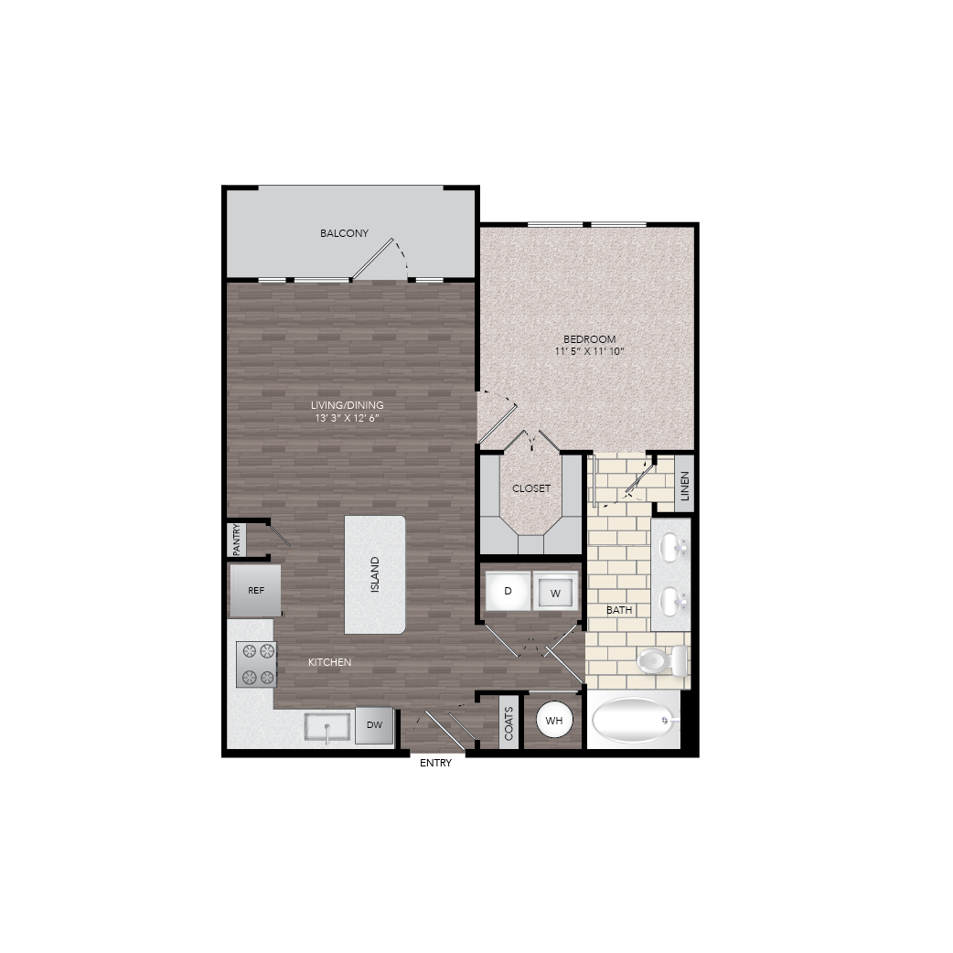 712 sq. ft. floor plan