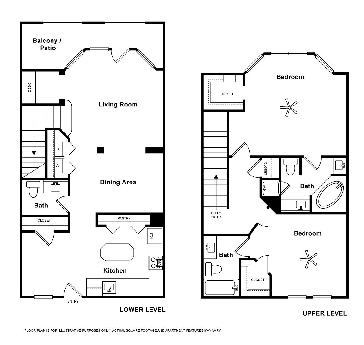 1,581 sq. ft. Orvietto floor plan