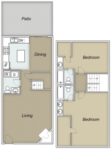 1,387 sq. ft. Broadmor floor plan