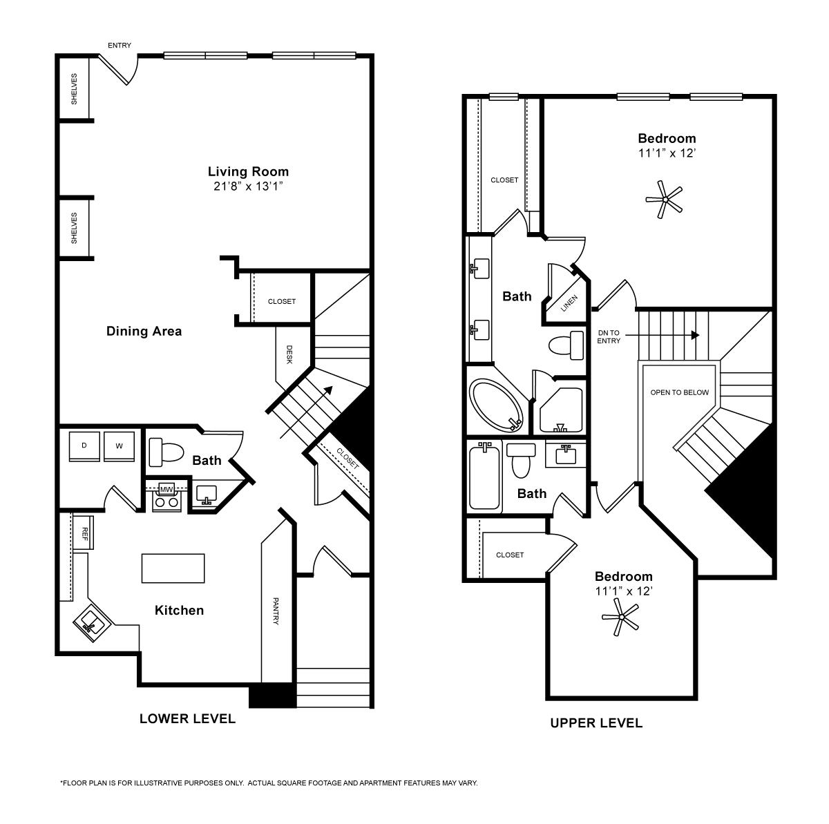 1,674 sq. ft. Roma floor plan