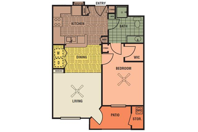 726 sq. ft. 30% floor plan